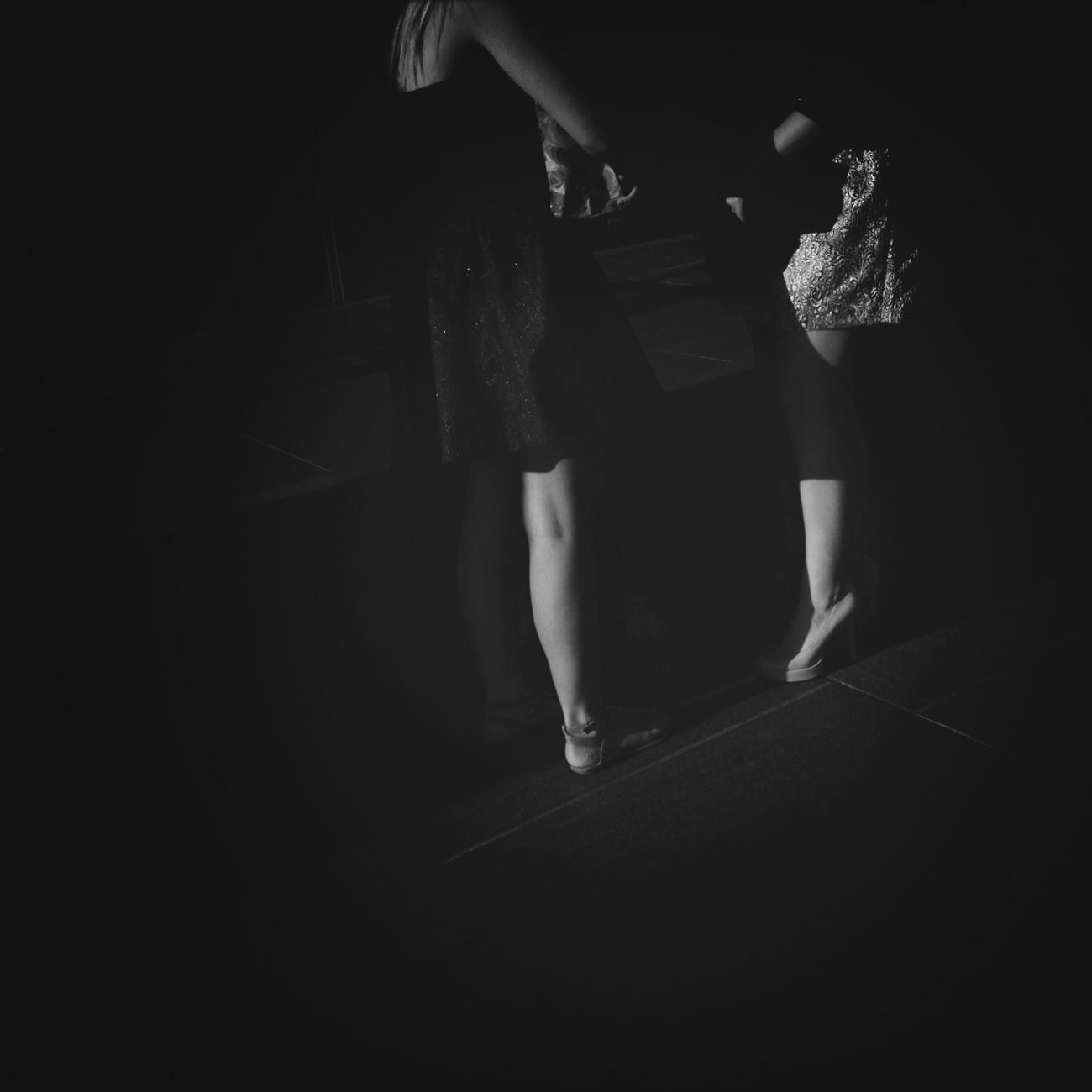 Streetphotography Other People's Shoes Black And Less White
