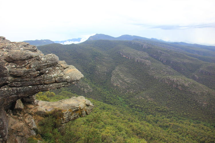 """The rock formation called """"Jaws of Death"""" on the cliff face that resembling the jaw of some giant beast. Australia Australian Landscape Grampian National Park The Grampians Travel Victoria, Australia Australia & Travel Landscape Mountain Mountain Range Nature Scenics Travel Destinations"""