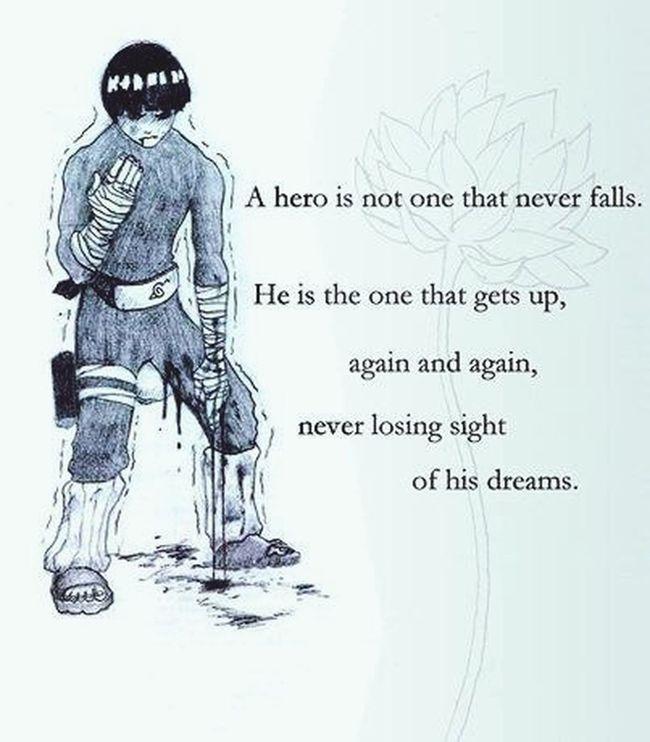 Rocklee Naruto A True Hero