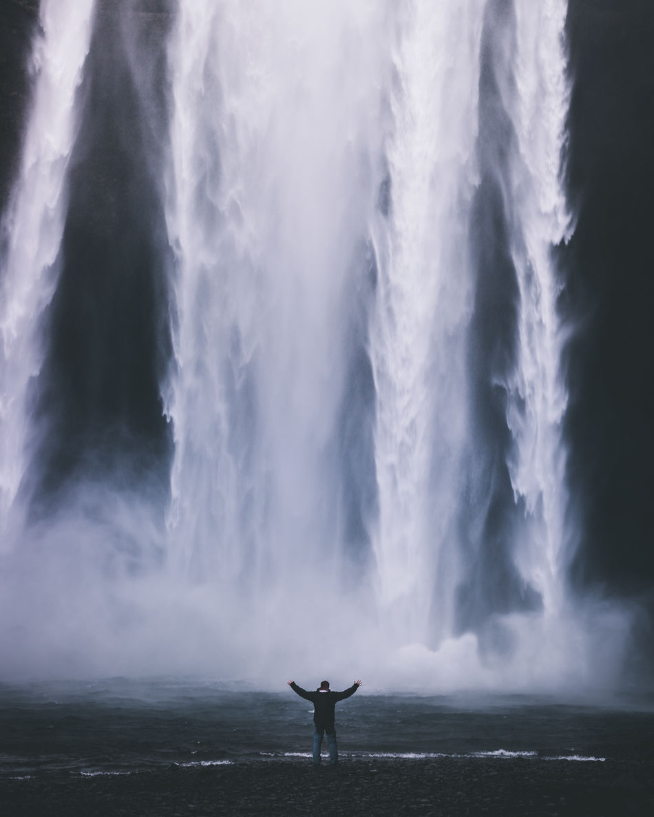 Beautiful stock photos of wasserfall, Iceland, Reykjavik, Travel Destinations, arms Outstretched