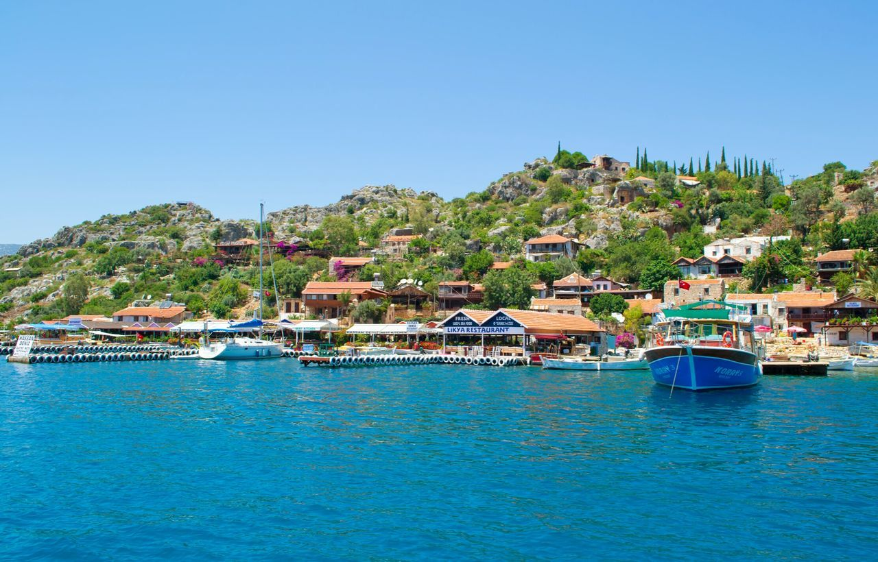 Relaxing Enjoying Life Mediterranean Sea Turkey Blue Sea And Sky Beautiful Rest Summer From A Moving Vehicle