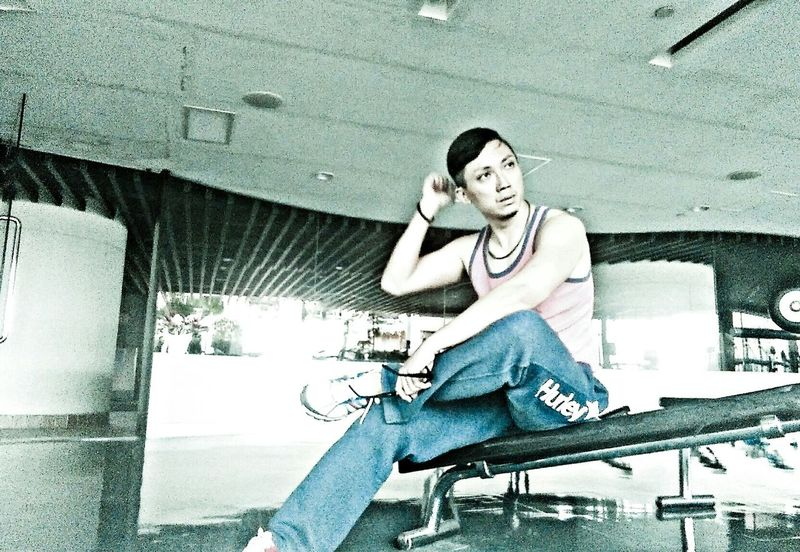 That's Me Selfportrait Gym Time