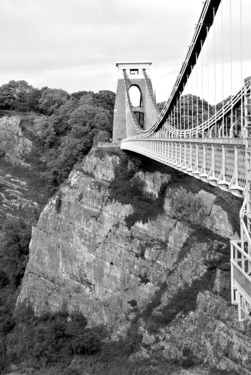 I really love Clifton Suspension Bridge in Black and White. Architecture Black And White Bridge Bristol Bristol Suspension Bridge Clifton Suspension Bridge Famous Place Mountain Range Outdoors Strata  Suspension Bridge The Way Forward Tranquil Scene Travel Destinations Monochrome Photography