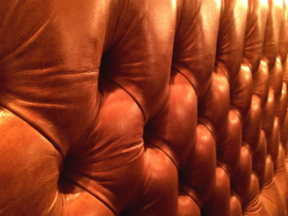 Leather Seating Buttons Lighting Shiny Patterns Circles Repeating Patterns Brown Leather Brown