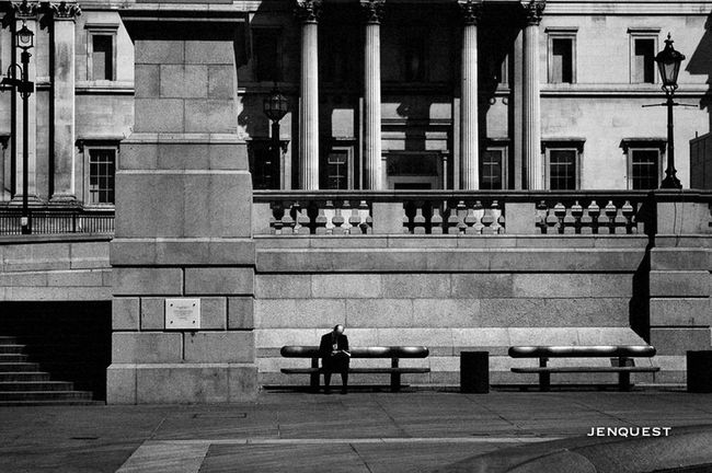 Peace in a busy city Streetphotography Black And White Streetphoto_bw Eye4black&white