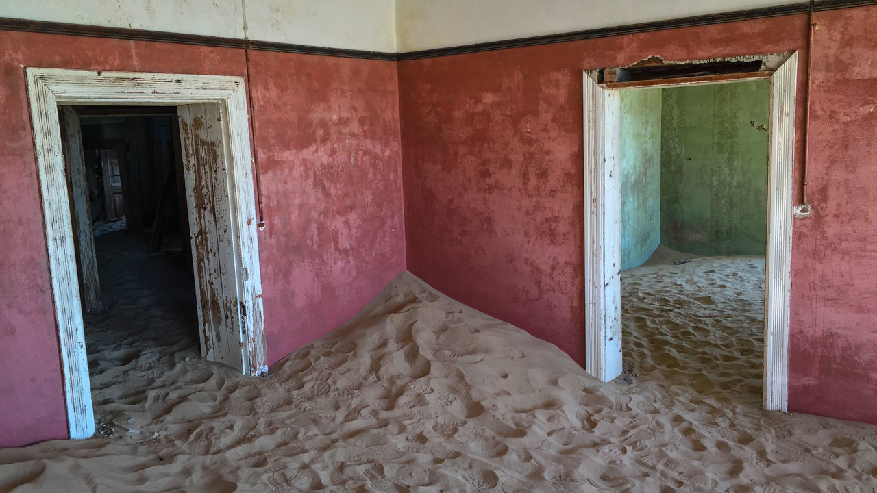 Sand In Abandoned House