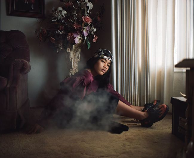 🥀 Model: Chelsea Sanson. Stylist: Melinda Wang Living Room Beauty Portrait Wine Mamiya Rz67 Mamiya RZ67 Pro II 120 Film 120mm Natural Light Portrait Natural Light On Location Androgyny Styling Fashion Color Color Portrait