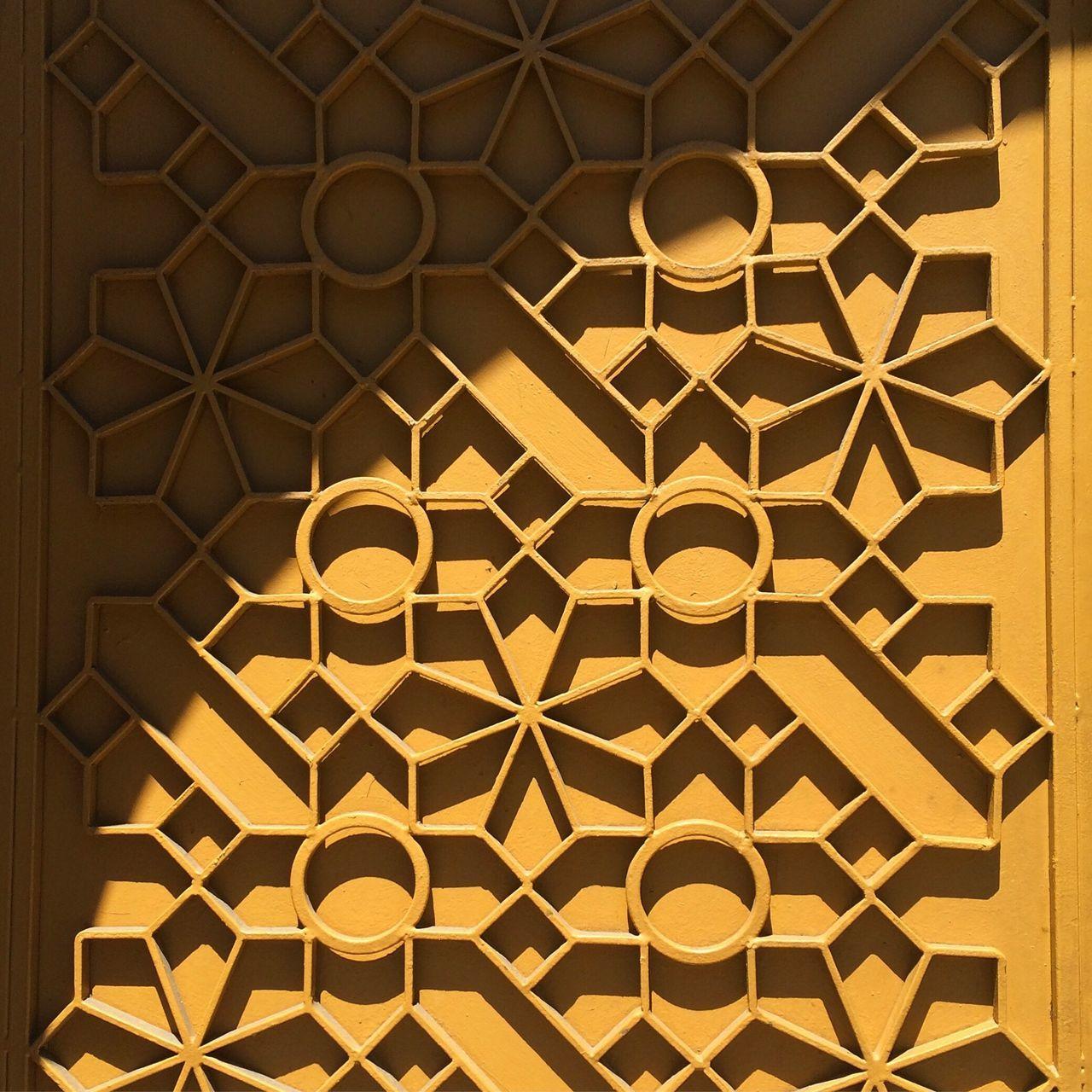 Pattern Geometric Shape No People Yellow Shadow
