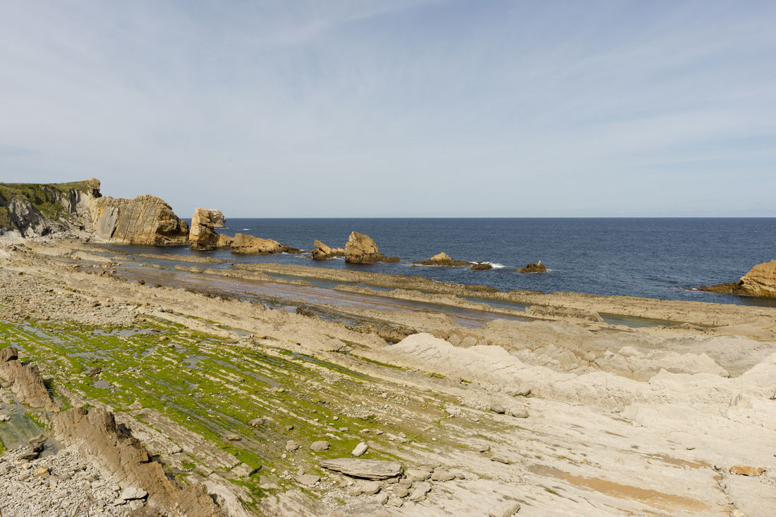 Arnia Arniabeach Beach Beauty In Nature Cantabria Coast Day Horizon Over Water Landscape Nature Nature No People Outdoors Scenics Sea Sky SPAIN Tranquil Scene Tranquility Water