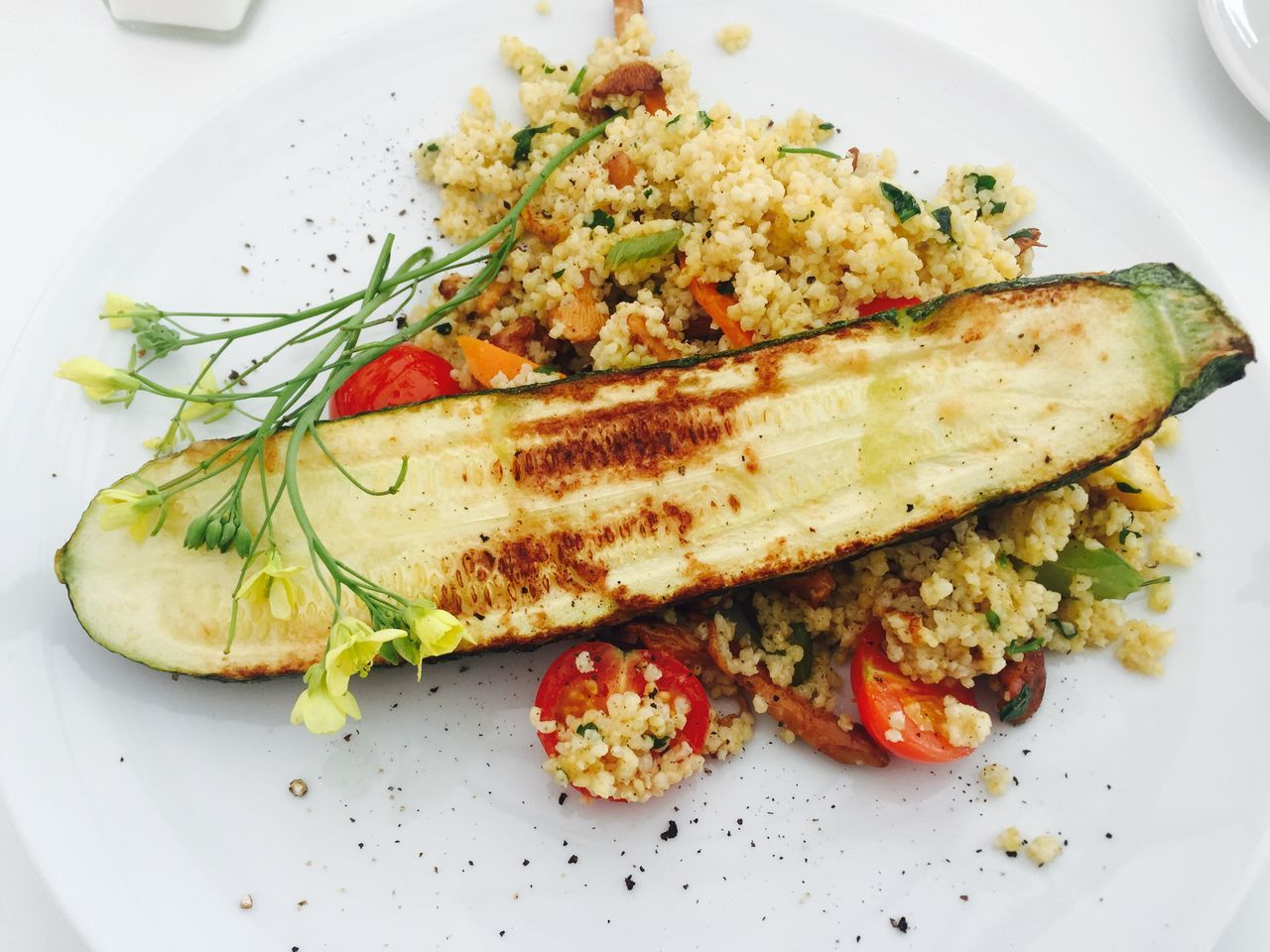 Cooked Courgette Food Food Styling Freshness Healthy Eating Meal Milano Plate Ready-to-eat Serving Size Tomato Vegetable
