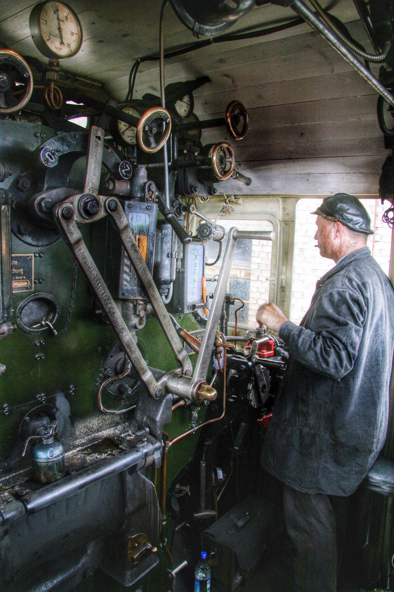 On The Train Steam Steamlocomotive S3/6 German Train Dampflok Dampflokomotive On Work