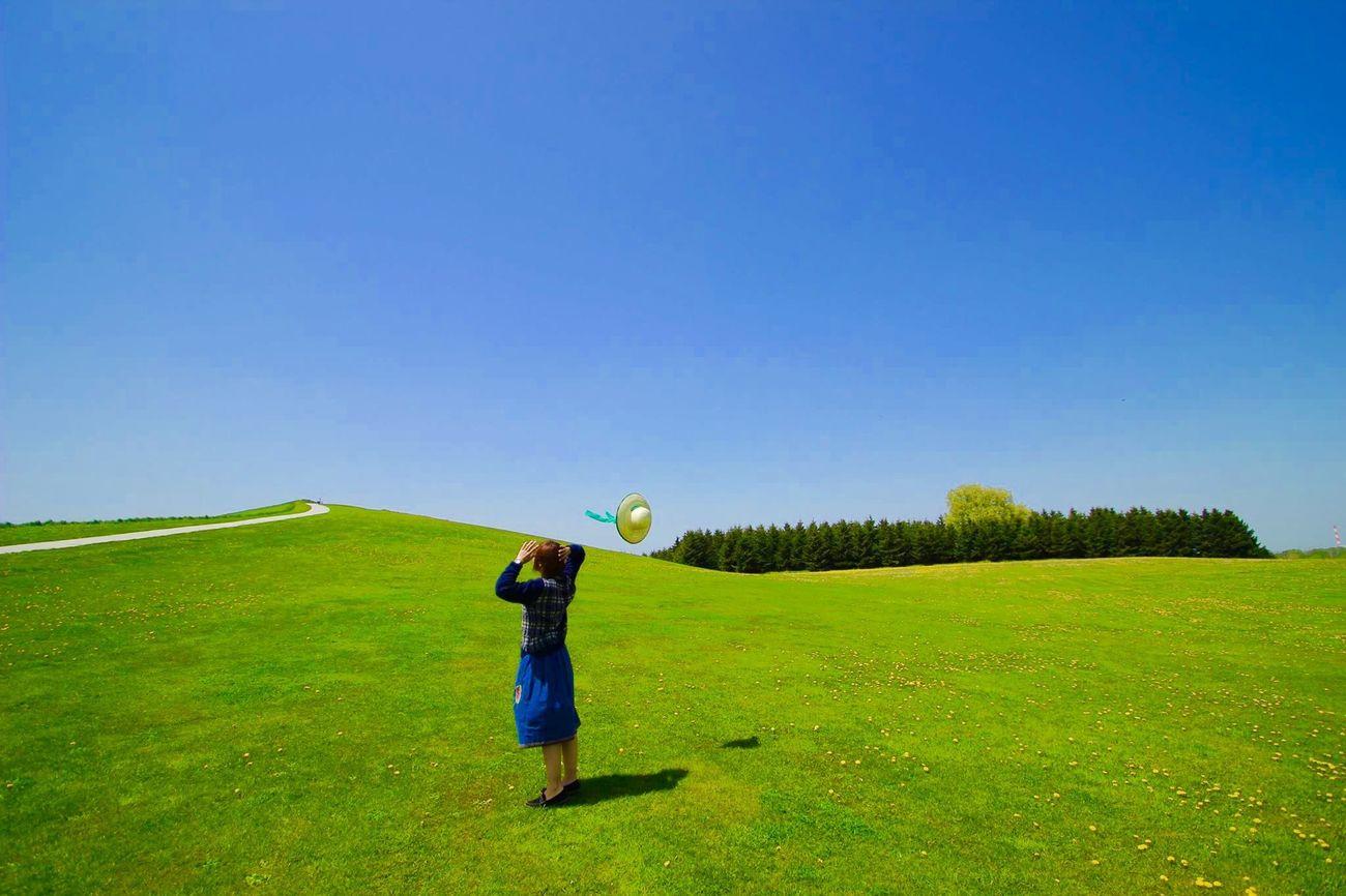 Hokkaido Grassland Canon Japan Blue Sky Photography EyeEm EyeEm Nature Lover Relaxing