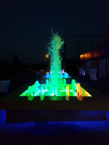 Colored Water Fountain Colored Water Water Fountain Colors Green Water Night Dark Night Photography Relaxing Taking Photos Check This Out Night Shot Enjoying Life