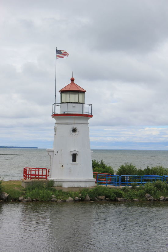 Architecture Building Exterior Built Structure Cheboygan Crib Light Cloud - Sky Day Grass Guidance Horizon Over Water Lighthouse Lighthouse_lovers Lighthousephotography Lighthouseview Nature No People Outdoors Protection Scenics Sea Sky Water