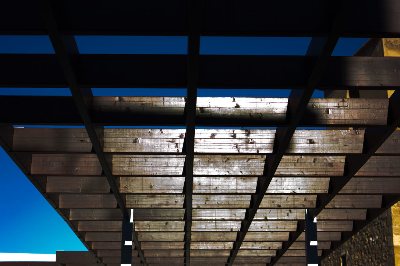 Architecture Built Structure Sky No People Pergola Sunny Day Harmony Perspective Geometric