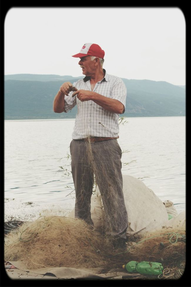 Oldguy Fishnet Lake Nature