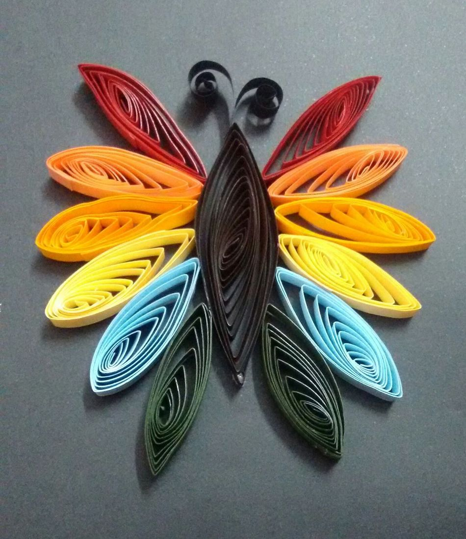 Happiness is craftsmaking 😍 Crafts Quilling Paper Art Butterfly Colorful Handmade Art