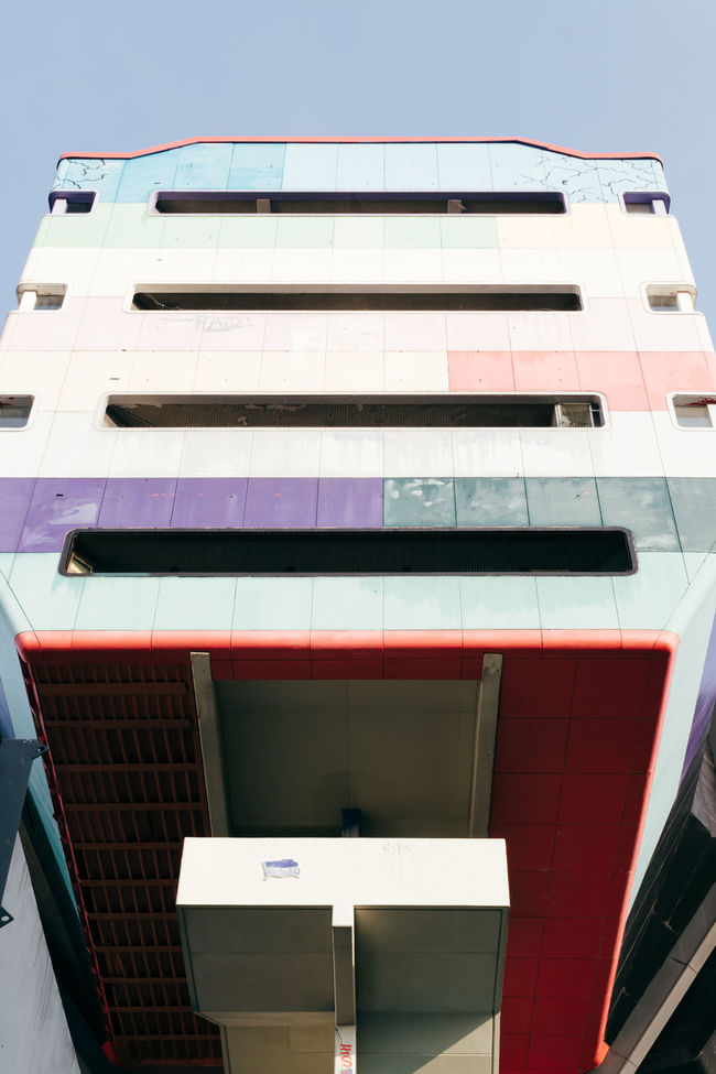 Architecture Building Exterior Built Structure Colorful Colors Day Low Angle View No People Outdoors Pastel Pastel Power Sky