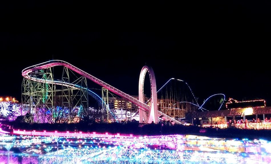 Illuminated Amusement Park Amusement  Scenery よみうりランド Themepark Night View 遊園地 Illumination