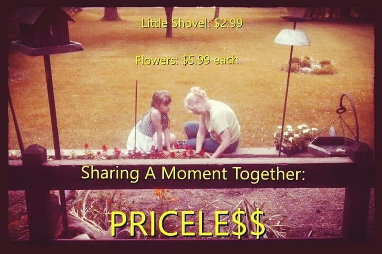 Priceless Memories Unity Outdoors Gardening Planting Family Togetherness Helping