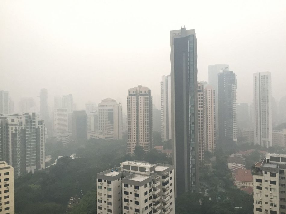 No filter needed on a hazy day Taking Photos Singapore Cityscapes