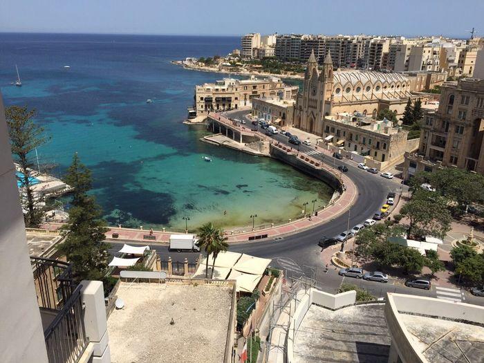 Malta St.julian's Bay Ocean Ocean View Sun Sunshine