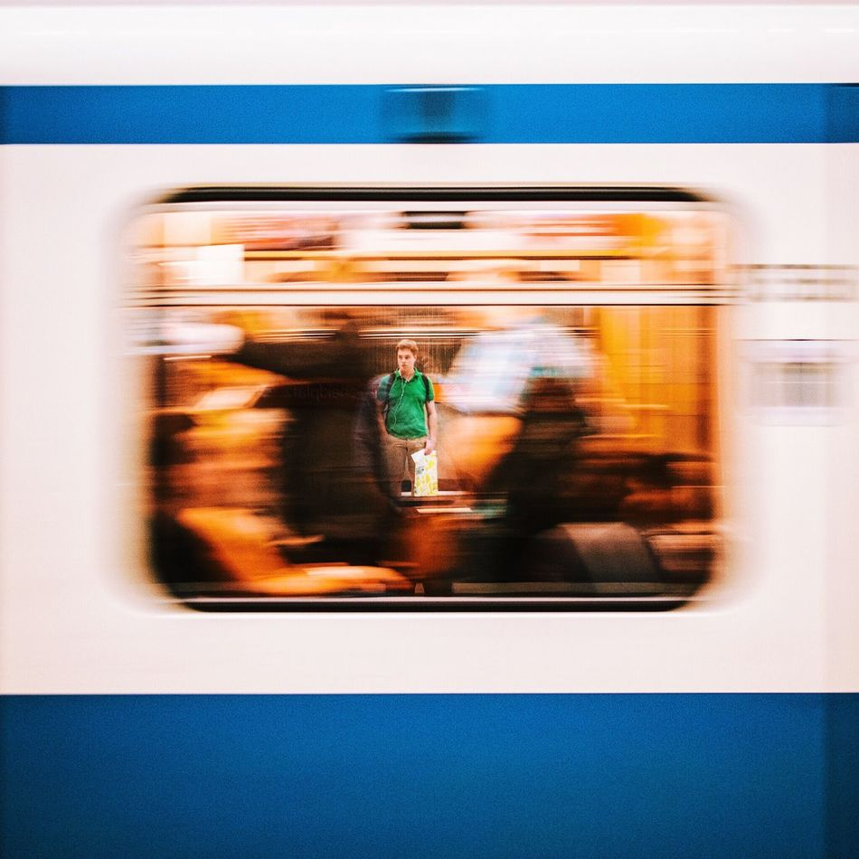 My Year My View Blurred Motion Public Transportation Motion Subway Train Passenger Train Speed Train - Vehicle Rush Rush Hour The Drive Colors Amazing Sebastianriegerphotos Streetphotography Munich Mucsp Subway