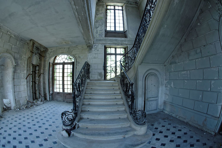 Abandoned Abandoned & Derelict Abandoned Places Architecture Best EyeEm Shot Best Of EyeEm Bestoftheday Built Structure Castle Château Château Des Singes Day Derelict Hand Rail Indoors  Moth4fok No People Railing Staircase Stairs Steps Steps And Staircases Urbaine Urban Urbex The Architect - 2017 EyeEm Awards EyeEmNewHere Sommergefühle EyeEm Selects Your Ticket To Europe