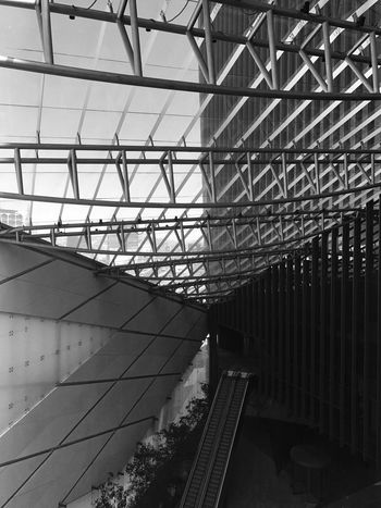 The Secret Spaces architecture built structure modern no people blackandwhite secret ceiling indoors rail transportation day low angle view sky public transportation connection Greenhouse First Eyeem Photo