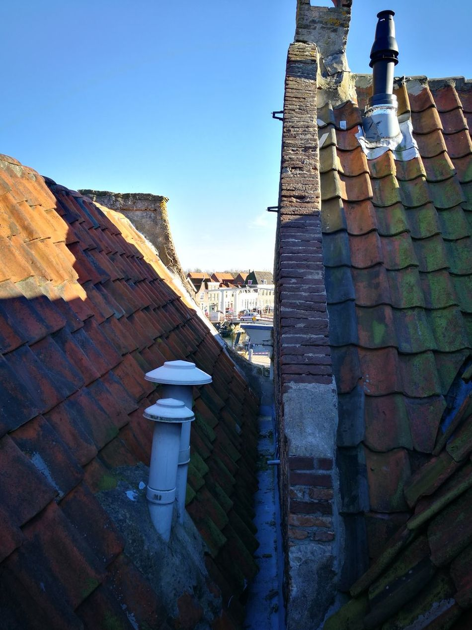 Built Structure Architecture Building Exterior Sky Roof Tile Rooftop Close-up Rustic Style No People Old Dutch Brielle Dutch Architecture Dutch House