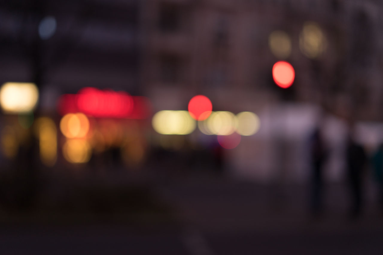 Backgrounds Bokeh Christmas City City Life Cityscape Close-up Defocused Full Frame Illuminated Neon Night Nightlife Nightlights No People Outdoors Patterns Red Light Road Stoplight Street Light Wintertime