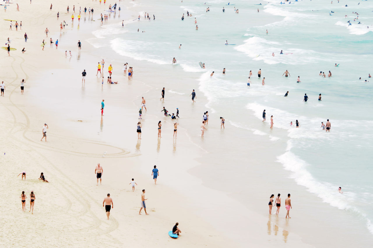 Beach #beach Australia Beach Bondi Bondi Beach People Sand Sea Summer Sydney Water