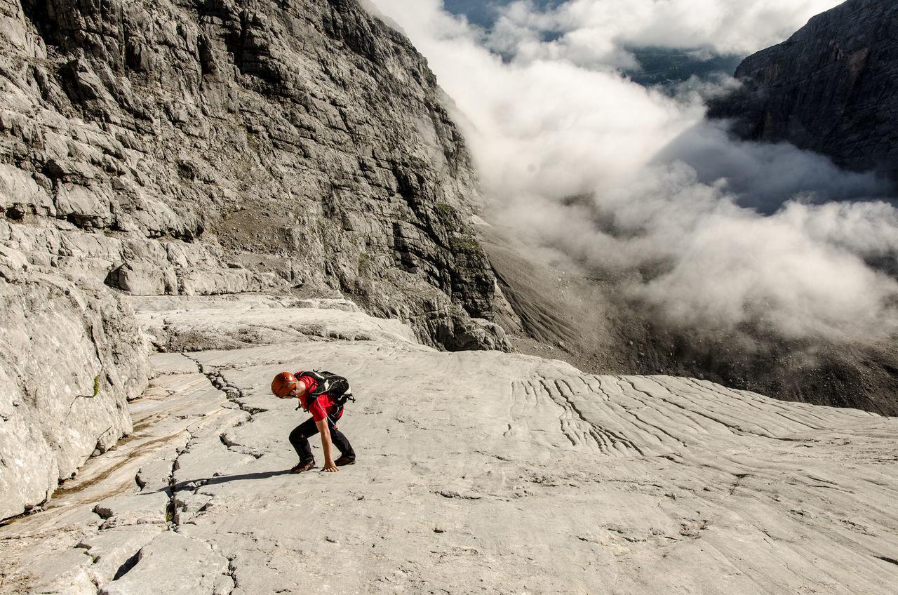 Climbing Mountain Mountaineering Rock Formation Rocky Mountains Scrambling Watzmann Watzmann-Ostwand Wiederroute The Great Outdoors With Adobe