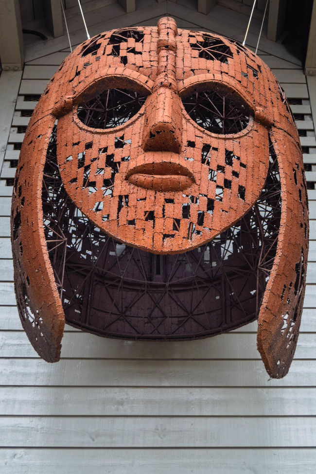 Anglo-saxon Brown Close-up Design Helmet No People Ornate Sutton Hoo