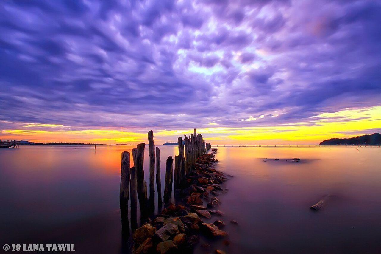 lutungan Islan Water Sunset Sky Beauty In Nature Cloud - Sky