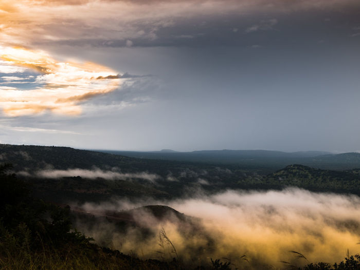 Beauty In Nature Day Landscape Mist Misty Misty Morning Mountain Nature No People Orange Orange Color Outdoors Outdoors Photograpghy  Outdoors Photography Outdoors❤ Scenics Sky Sunset Tranquil Scene Tranquility Tree