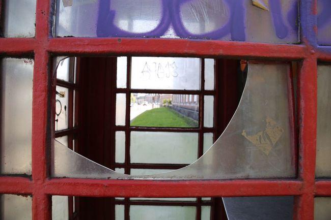 Through the phone box Phonebox Salford