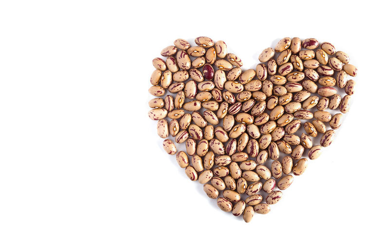 healthy beans forming heart shape isolated on white background Agriculture Beans Breakfast Dinner Isolated Love Meal Raw Vegetarian Abundance Backkground Color Bean Copy Space Food Food And Drink Freshness Healthy Eating Heart Shape High Angle View Kidney Beans Organic Protein Still Life Studio Shot White Background