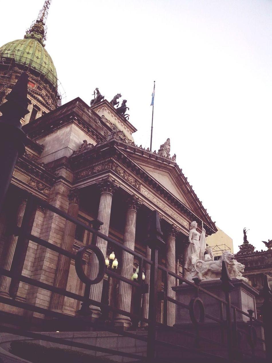 Edificio de los Dos Congresos de la Nación Argentina en la ciudad de Buenos Aires en un atardecer de invierno en el mes de agosto. Being Cultured At A Lecture Almagro Art