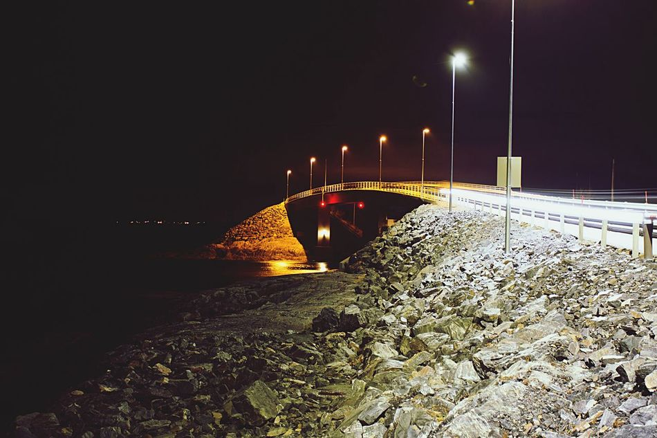 Norway Night Illuminated Connection No People Outdoors Architecture Bridge Panorama Travel Norwegian Road Road Lights The Atlantic Road
