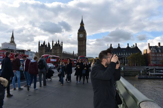 London Lifestyle Architecture Big Ben Houses Of Parliament Crowd Travel Destinations London Westminster Clock Tower Busy Pedestrian Clouds And Sky Building Exterior Built Structure Sky Cloud - Sky Large Group Of People Real People Travel Men City Tourism History Time Outdoors Day Cultures Clock People