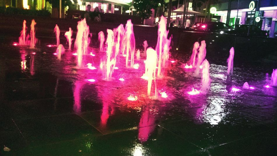 Sitting by the fountain at Oliver brown with my wifey Water_collection Water Reflections Datenight Check This Out Night Lights Chocolate Fountin Eye4photography  EyeEmBestPics EyeEm Best Shots EyeEm Best Edits
