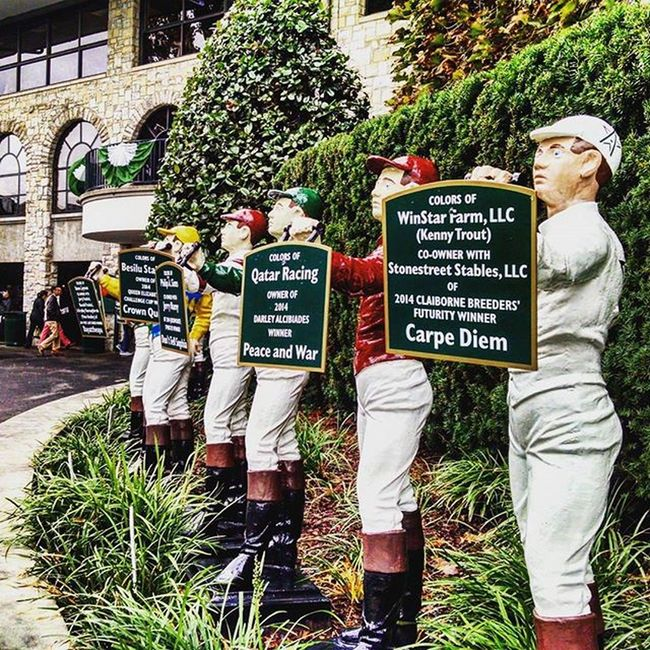 Cool and Cloudy at Keeneland but looking forward to the fun! Thoroghbred Thoroghbredracing Fall Selfie Autumn Selfies Kentucky