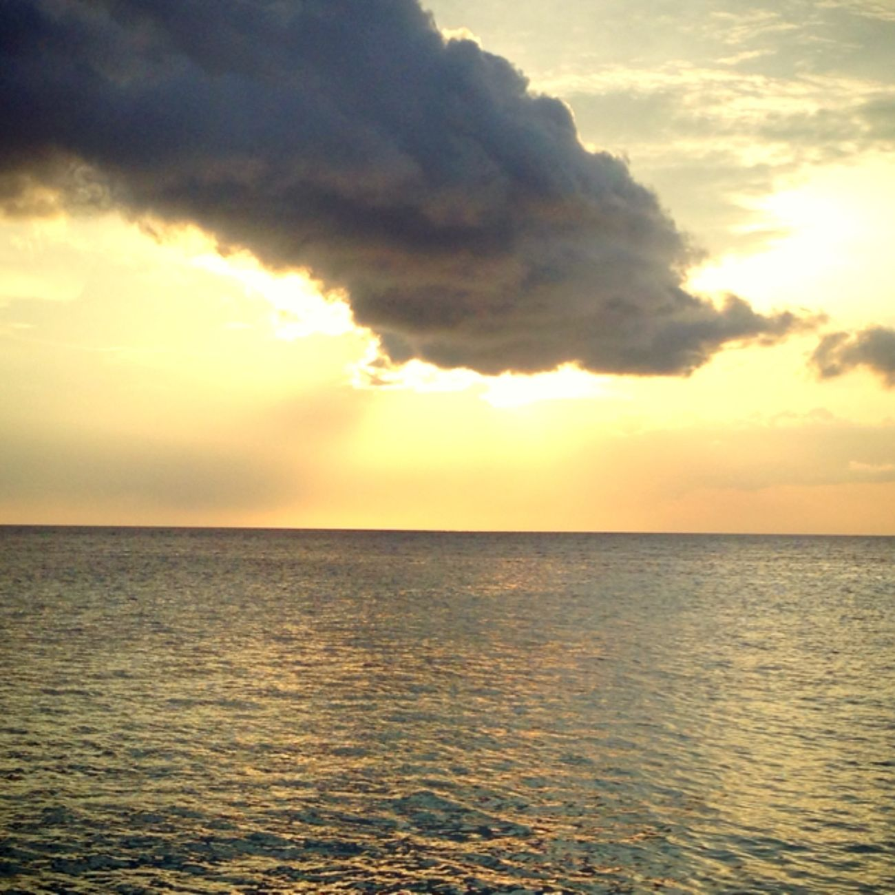 ocean in lovely sunset Maratua Island