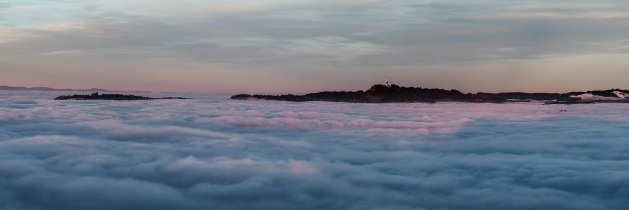 Above The Fog Beauty In Nature Cloud - Sky Cloudscape Dramatic Sky Fog Outdoors Power In Nature Sea Of Cloud Sea Of Fog Sky Sunset Tranquility