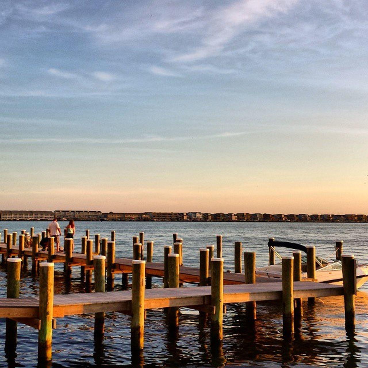 Docks Chesapekebay Bayside Bay Sunset Ocmd OceanCity Missthis Oceanlife