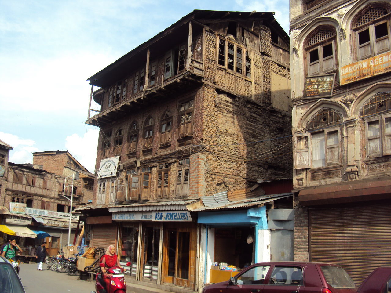 A day in downtown kashmir Architecture Building Exterior City Day Downtown Low Angle View Outdoors Srinagar Kashmir Travel Destinations