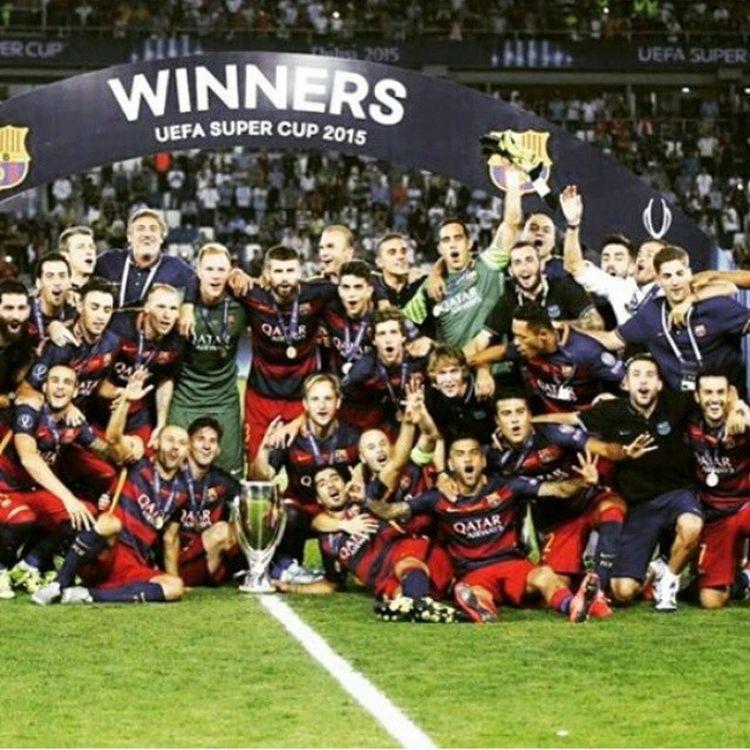 Supercopa Barcelona Trophy 4 Congratulations 😍😃😊😆😇❤