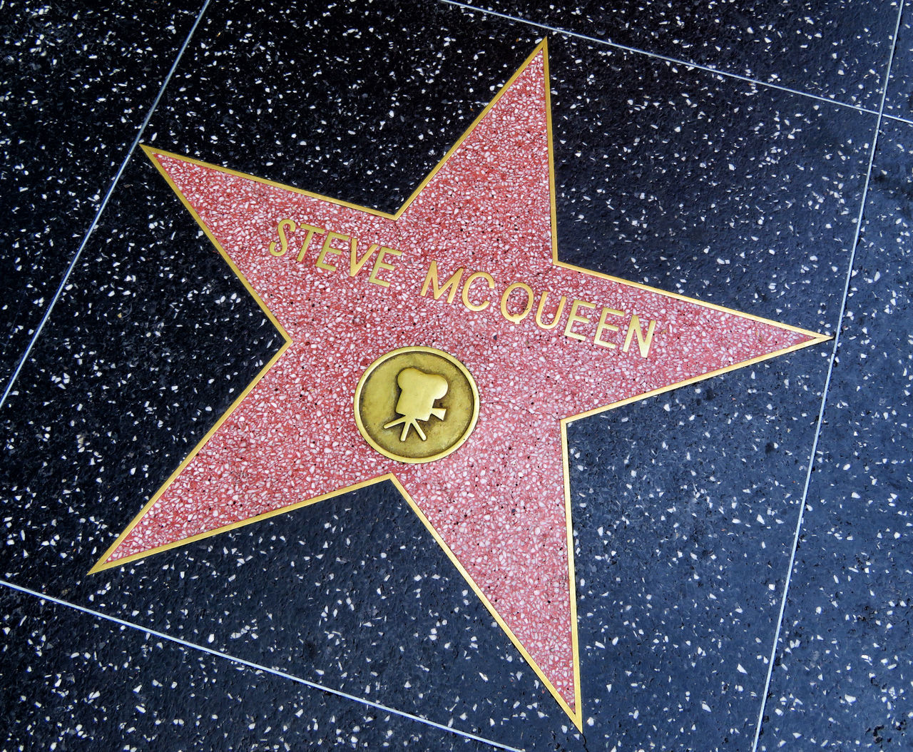 Walk of Fame - Hollywood America California Celebrities Fame Famous People Hollywood Moviestar No People Outdoors Star - Space Steve McQueen Walk Of Fame