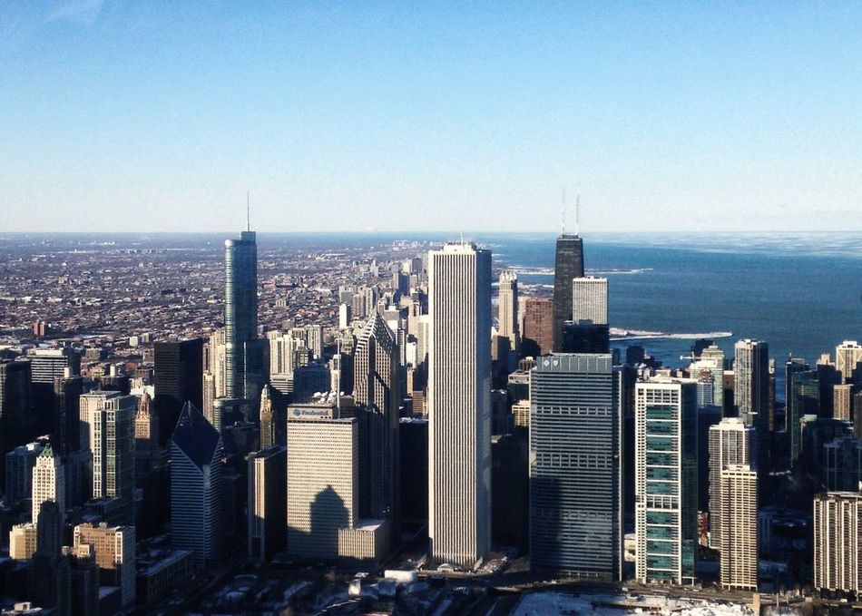 Beautiful stock photos of chicago skyline, Chicago, City, Clear Sky, Day